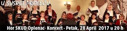Hor SKUD Oplenac- Koncert